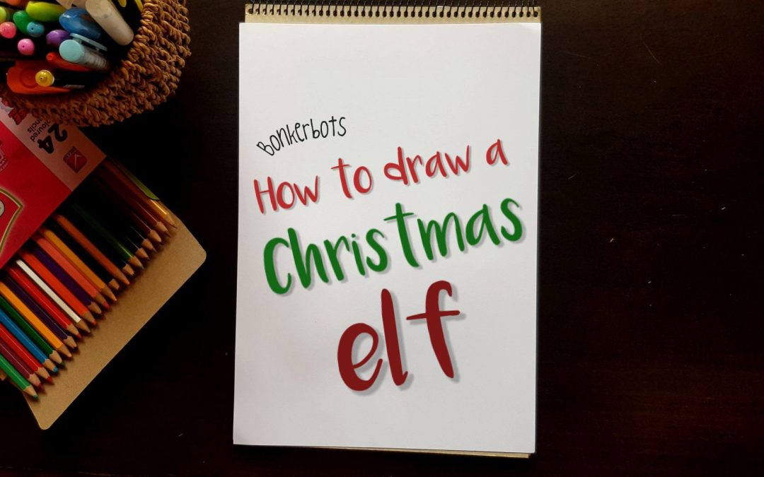 How to draw a Christmas Elf